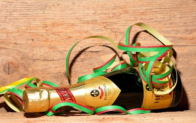 champagner-flasche